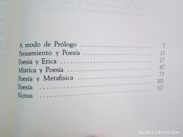 Libros de segunda mano: MARIA ZAMBRANO. 4 LIBROS: LA RAZON EN LA SOMBRA. FILOSOFIA Y POESIA. PERSONA Y DEMOCRACIA... - Foto 21 - 111587059