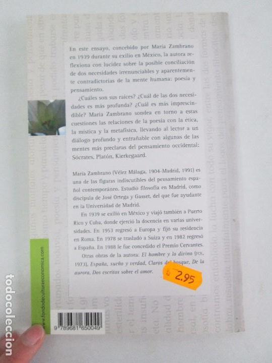 Libros de segunda mano: MARIA ZAMBRANO. 4 LIBROS: LA RAZON EN LA SOMBRA. FILOSOFIA Y POESIA. PERSONA Y DEMOCRACIA... - Foto 22 - 111587059