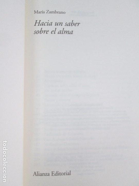 Libros de segunda mano: MARIA ZAMBRANO. 4 LIBROS: LA RAZON EN LA SOMBRA. FILOSOFIA Y POESIA. PERSONA Y DEMOCRACIA... - Foto 24 - 111587059