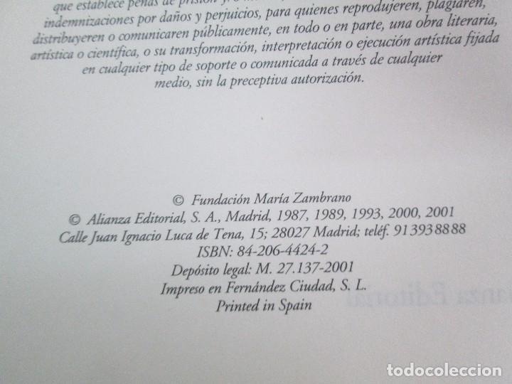 Libros de segunda mano: MARIA ZAMBRANO. 4 LIBROS: LA RAZON EN LA SOMBRA. FILOSOFIA Y POESIA. PERSONA Y DEMOCRACIA... - Foto 25 - 111587059