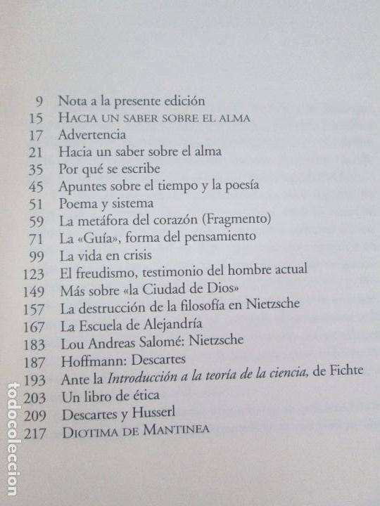 Libros de segunda mano: MARIA ZAMBRANO. 4 LIBROS: LA RAZON EN LA SOMBRA. FILOSOFIA Y POESIA. PERSONA Y DEMOCRACIA... - Foto 26 - 111587059
