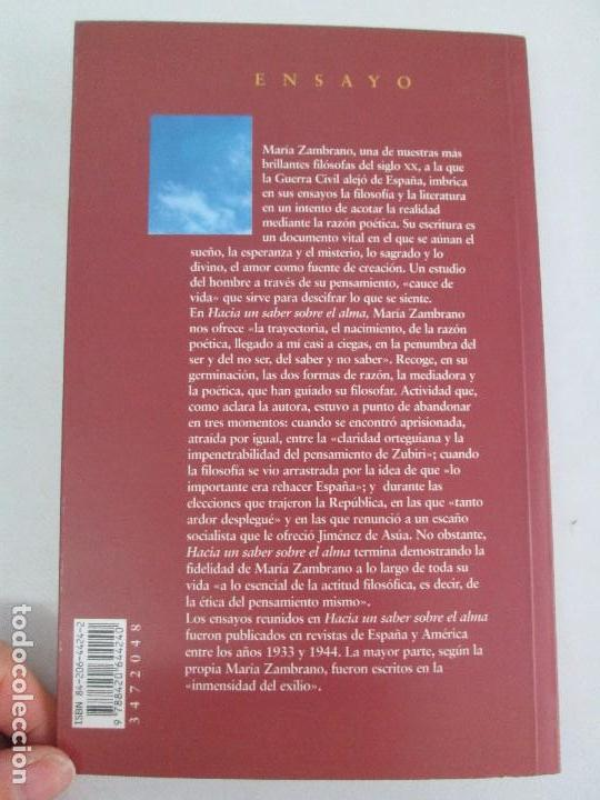 Libros de segunda mano: MARIA ZAMBRANO. 4 LIBROS: LA RAZON EN LA SOMBRA. FILOSOFIA Y POESIA. PERSONA Y DEMOCRACIA... - Foto 30 - 111587059