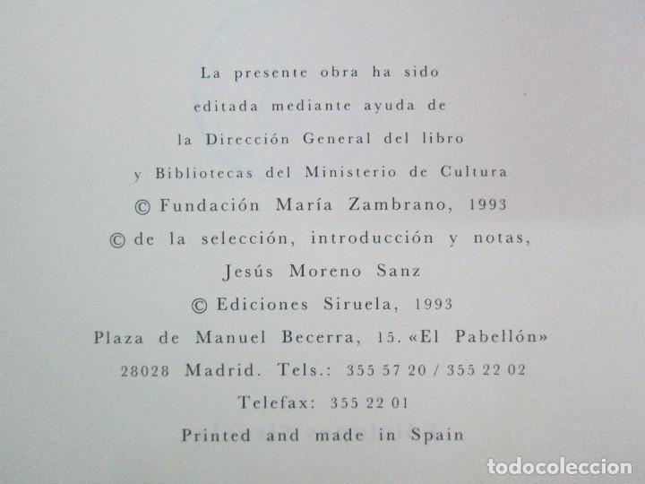 Libros de segunda mano: MARIA ZAMBRANO. 4 LIBROS: LA RAZON EN LA SOMBRA. FILOSOFIA Y POESIA. PERSONA Y DEMOCRACIA... - Foto 34 - 111587059