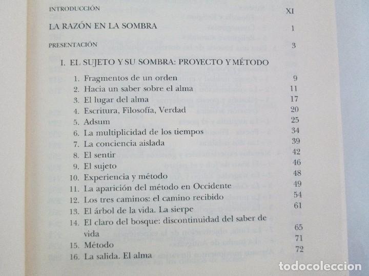 Libros de segunda mano: MARIA ZAMBRANO. 4 LIBROS: LA RAZON EN LA SOMBRA. FILOSOFIA Y POESIA. PERSONA Y DEMOCRACIA... - Foto 35 - 111587059
