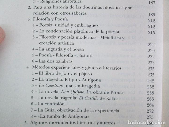 Libros de segunda mano: MARIA ZAMBRANO. 4 LIBROS: LA RAZON EN LA SOMBRA. FILOSOFIA Y POESIA. PERSONA Y DEMOCRACIA... - Foto 37 - 111587059