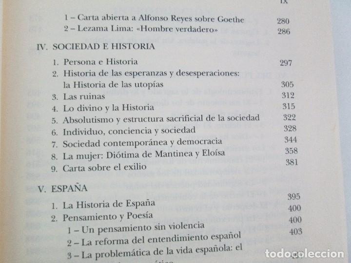 Libros de segunda mano: MARIA ZAMBRANO. 4 LIBROS: LA RAZON EN LA SOMBRA. FILOSOFIA Y POESIA. PERSONA Y DEMOCRACIA... - Foto 38 - 111587059