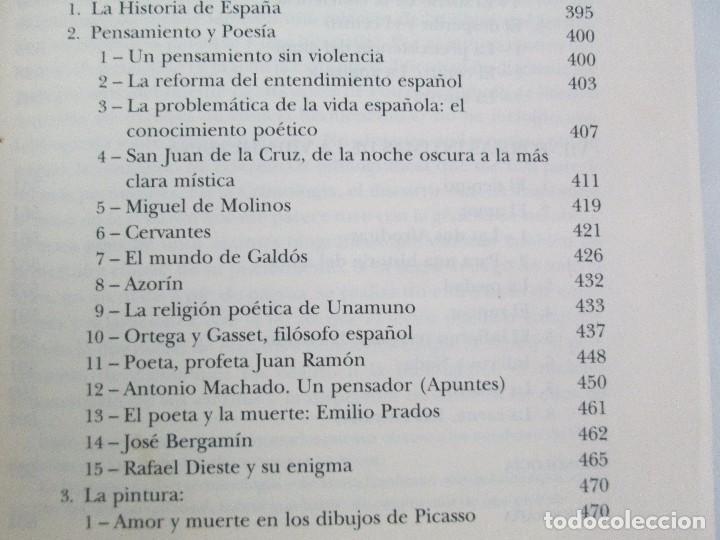 Libros de segunda mano: MARIA ZAMBRANO. 4 LIBROS: LA RAZON EN LA SOMBRA. FILOSOFIA Y POESIA. PERSONA Y DEMOCRACIA... - Foto 39 - 111587059