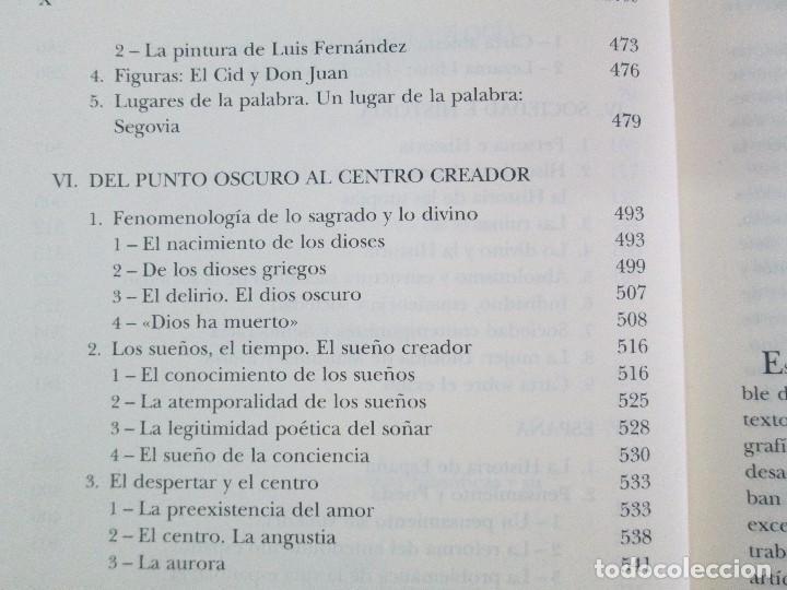 Libros de segunda mano: MARIA ZAMBRANO. 4 LIBROS: LA RAZON EN LA SOMBRA. FILOSOFIA Y POESIA. PERSONA Y DEMOCRACIA... - Foto 40 - 111587059