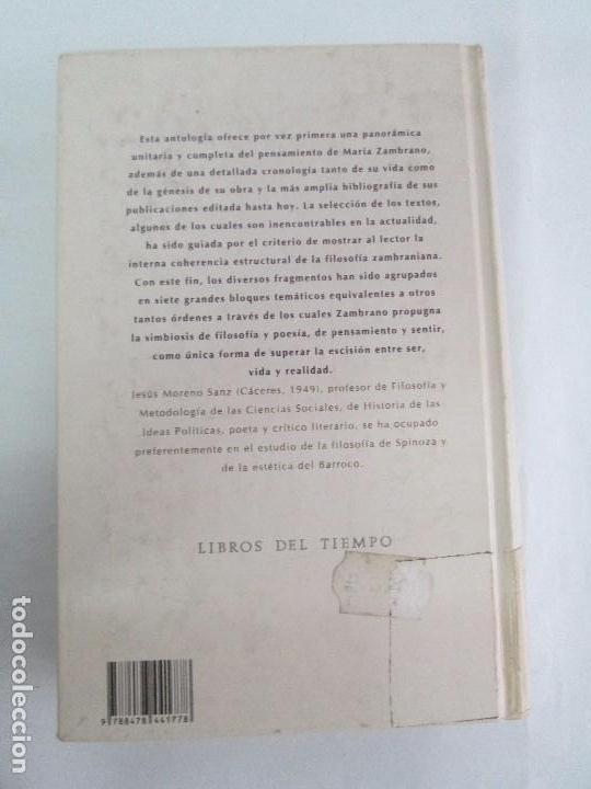 Libros de segunda mano: MARIA ZAMBRANO. 4 LIBROS: LA RAZON EN LA SOMBRA. FILOSOFIA Y POESIA. PERSONA Y DEMOCRACIA... - Foto 45 - 111587059