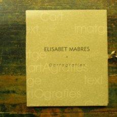 Libros de segunda mano: CARTOGRAFIES; ELISABET MABRES; OB-ART, 2003. Lote 111701239