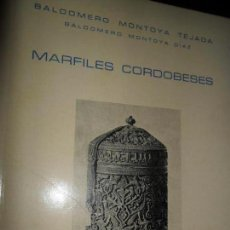 Libros de segunda mano: MARFILES, BALDOMERO MONTOYA TEJADA, ED. REAL ACADEMIA. Lote 111706979