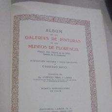 Libros de segunda mano: GALERIAS DE EUROPA. MUSEOS DE FLORENCIA. EDITORIAL LABOR. 60 REPRODUCCIONES EN COLOR. VER. Lote 111769343