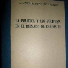 Libros de segunda mano: LA POLÍTICA Y LOS POLÍTICOS EN EL REINADO DE CARLOS III, VICENTE RODRÍGUEZ CASADO, ED. RIALP. Lote 111782091