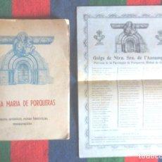 Libros de segunda mano: SANTA MARIA DE PORQUERAS 1960 BANYOLES + TRES GOIGS. TESORO ARTÍSTICO, NOTAS HISTÓRICAS, RESTAURACIÓ. Lote 111817931
