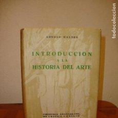 Libros de segunda mano: INTRODUCCIÓN A LA HISTORIA DEL ARTE - ARNOLD HAUSER - GUADARRAMA,TAPA DURA, MUY BUEN ESTADO. Lote 111840679