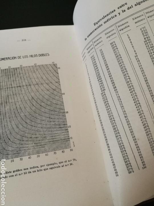 Libros de segunda mano: Cálculos y problemas textiles.(1959) Daniel Blanxart - Foto 3 - 111971568