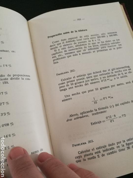 Libros de segunda mano: Cálculos y problemas textiles.(1959) Daniel Blanxart - Foto 5 - 111971568