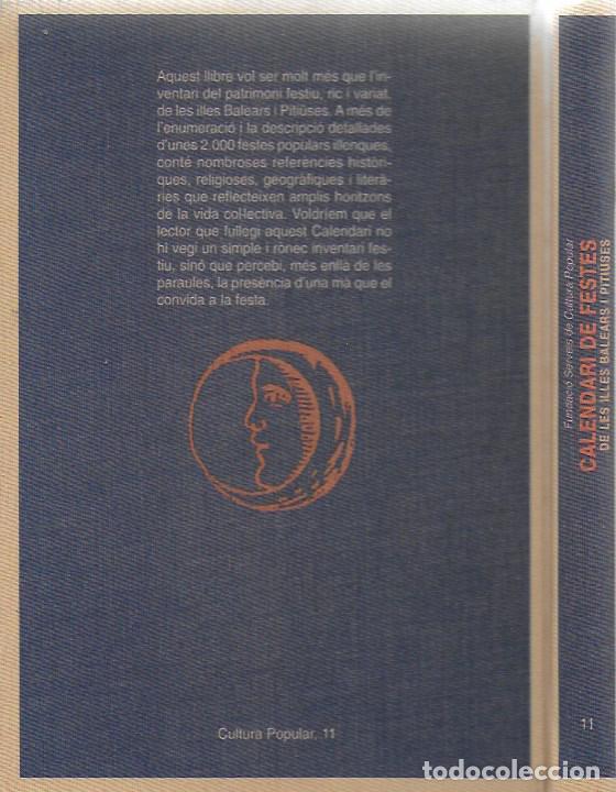 Libros de segunda mano: Calendari de festes de les Illes Balears i Pitiuses / Dir. G. Janer Manila. BCN : Altafulla, 1992. - Foto 2 - 112006875