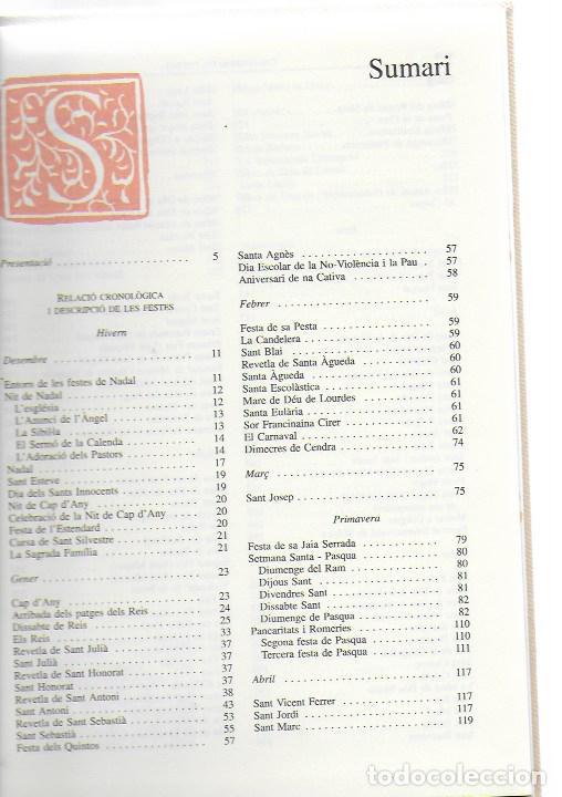 Libros de segunda mano: Calendari de festes de les Illes Balears i Pitiuses / Dir. G. Janer Manila. BCN : Altafulla, 1992. - Foto 4 - 112006875