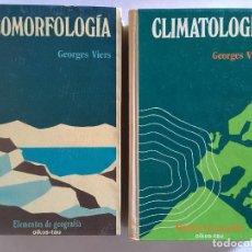 Libros de segunda mano: LOTE DE 2 LIBROS - GEOMORFOLOGIA - CLIMATOLOGIA - ELEMENTOS DE GEOGRAFIA - AMBOS DE OIKOS-TAU . Lote 112029867