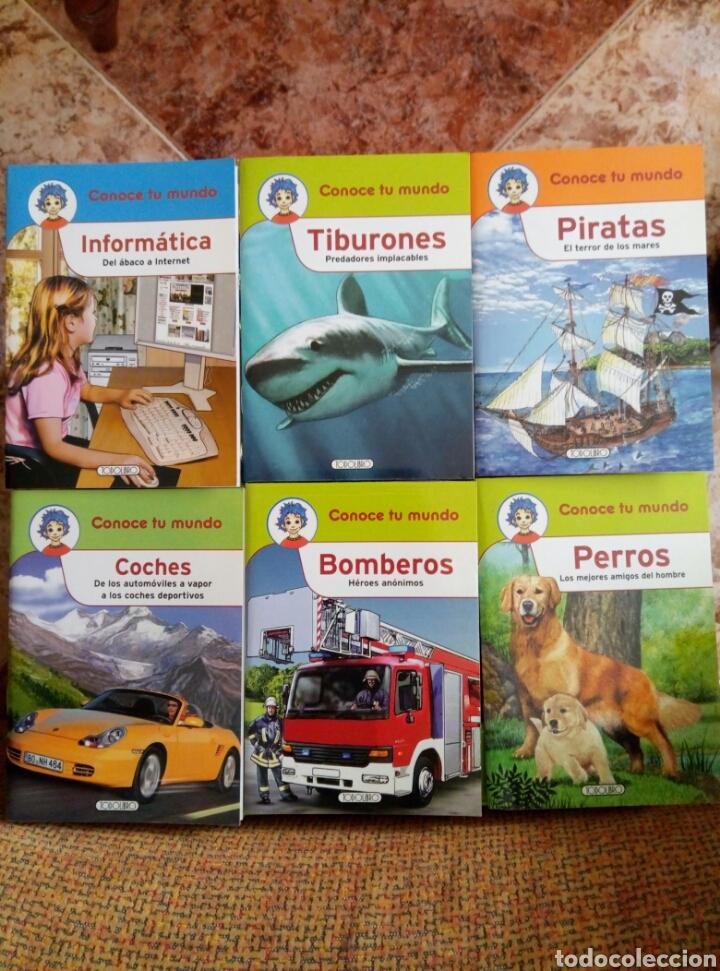 COLECCIÓN CONOCE TU MUNDO (6 PEQUEÑOS LIBROS)TIBURONES BOMBEROS PIRATAS INFORMATICA PERROS COCHES (Libros de Segunda Mano - Literatura Infantil y Juvenil - Otros)