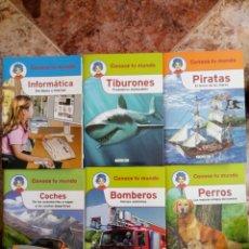 Libros de segunda mano: COLECCIÓN CONOCE TU MUNDO (6 PEQUEÑOS LIBROS)TIBURONES BOMBEROS PIRATAS INFORMATICA PERROS COCHES. Lote 112035130