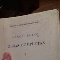 Libros de segunda mano: MANUEL LLANO.OBRAS COMPLETAS.TOMOI.1968. Lote 112147176