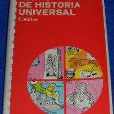 Libros de segunda mano: ATLAS DE HISTORIA UNIVERSAL - E.VALLÉS - COLECCIÓN ATLAS - EDICIONES JOVER. Lote 112179155