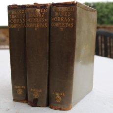 Libros de segunda mano: V. BLASCO IBAÑEZ OBRAS COMPLETAS AGUILAR 1958 . 3 TOMOS (COMPLETO) .. Lote 112226311