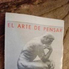Libros de segunda mano: EL ARTE DE PENSAR: LA CULTURA EN LA EDAD ADULTA - GARCÍA PÉREZ, JUAN. Lote 112422447