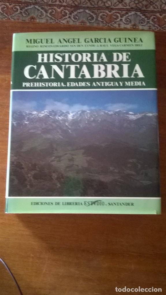 HISTORIA DE CANTABRIA. PREHISTORIA, EDADES ANTIGUA Y MEDIA. M.A. GARCÍA GUINEA. PRIMERA EDICIÓN 1985 (Libros de Segunda Mano - Historia - Otros)