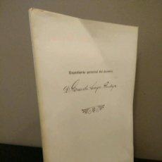Libros de segunda mano: GERARDO DIEGO - EXPEDIENTE PERSONAL DEL ALUMNO D. GERARDO DIEGO CENDOYA. FASCIMIL. Lote 112474847