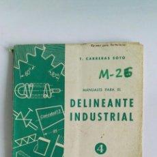 Libros de segunda mano: MANUALES PARA EL DELINEANTE INDUSTRIAL 4 TABLAS DE ROSCAS, ENGRANAJES, SIGNOS DE SOLDADURA. Lote 112654206