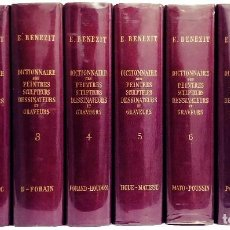 Libros de segunda mano: DICTIONNAIRE DES PEINTRES, SCULPTEURS, DESSINATEURS ET GRAVEURS / E. BÉNÉZIT. 8 V. (COMPLETO). Lote 112747763