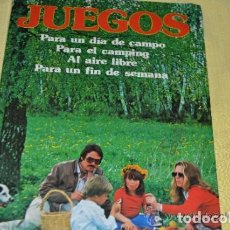 Libros de segunda mano: JUEGOS, PARA UN DÍA DE CAMPO, PARA EL CAMPING... ----REFGIMHAULEMGRRAGO. Lote 112802095