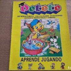 Libros de segunda mano: PETATE. APRENDE JUGANDO. Lote 112965047