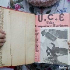 Libros de segunda mano: TUBAL UNION COMPOSITORES ESCRITORES 25 CM 1952-53 NUMEROS 57 AL 68 EN UN TOMO 450 GRS OUT. Lote 112966783