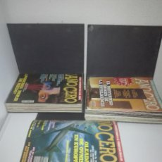 Libros de segunda mano: AÑO CERO LOTE DE LAS 37 PRIMERAS REVISTAS CON SUS ARCHIVADORES. Lote 112993955