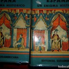 Libros de segunda mano: ESPAÑA, UN ENIGMA HISTÓRICO, CLAUDIO SÁNCHEZ-ALBORNOZ, ED. SUDAMERICANA, 2 TOMOS. Lote 113016199