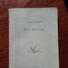 Libros de segunda mano: JOAQUIN RUIZ-GIMÉNEZ: DIEZ DISCURSOS. MADRID. 1954. Lote 113058702
