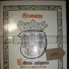 Libros de segunda mano: GRANATA: LIBROS ANTIGUOS ALMERÍA ESPAÑA CATÁLOGO EUROPA SIGLOS IV A XI. EJEMPLAR DEDICADO VER FOTOS. Lote 113071515