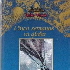 Libros de segunda mano: JULIO VERNE - CINCO SEMANAS EN GLOBO - EDICIONES RUEDA 2001. Lote 113087343