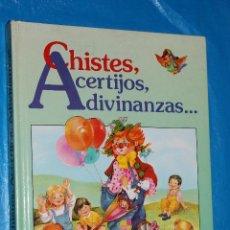 Libros de segunda mano: CHISTES, ACERTIJOS, ADIVINANZAS......, SUSAETA 1989, ILUSTRACIONES JUAN LOPEZ RAMON. Lote 113202515