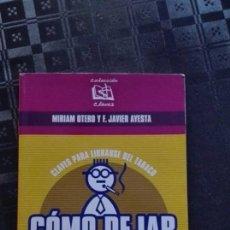 Libros de segunda mano: COMO DEJAR DE FUMAR. Lote 113266591