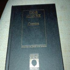 Libros de segunda mano: EDGAR ALAN POE. CUENTOS. BIBLIOTECA PERSONAL JORGE LUIS BORGES. 1986. 40. Lote 113303420