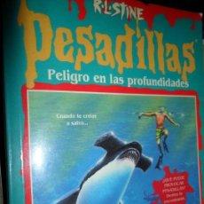 Libros de segunda mano: PELIGRO EN LAS PROFUNDIDADES, PESADILLAS, R.L. STINE, EDICIONES B. Lote 113313923