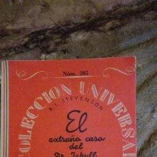 Libros de segunda mano: COLECCION UNIVERSAL Nº 205.EL EXTRAÑO CASO DEL DR. JEKYLL Y MR. HYDE.ESPASA CALPE. Lote 113324791