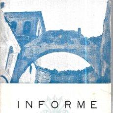 Libros de segunda mano: INFORME SOBRE LAS PERDIDAS Y DAÑOS SUFRIDOS POR EL TESORO ARTISTICO DE GRANADA. 1931-1936. 1937.. Lote 113571855