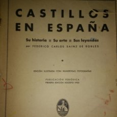 Libros de segunda mano: CASTILLOS DE ESPAÑA. SU HISTORIA, SU ARTE, SUS LEYENDAS. PRIMERA EDICIÓN AGOSTO 1932. POR FEDERICO C. Lote 113572408