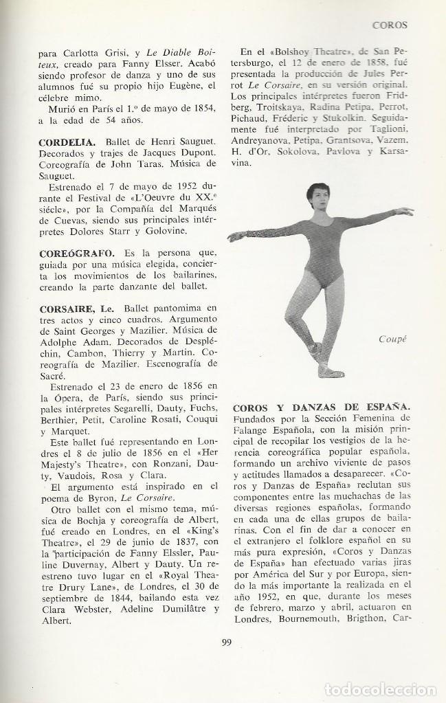 Libros de segunda mano: DICCIONARIO DEL BALLET Y DE LA DANZA, Sebastián Gasch (dir) - Foto 2 - 113720747